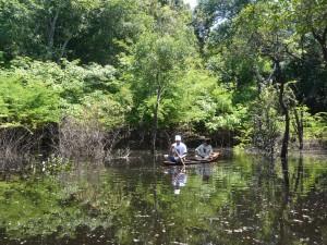 1- passeio de canoa a remo