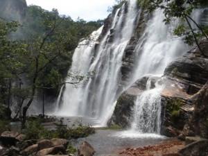 Cachoeira de Cocais, uma das quedas d'�gua pr�ximas ao s�tio arqueol�gico