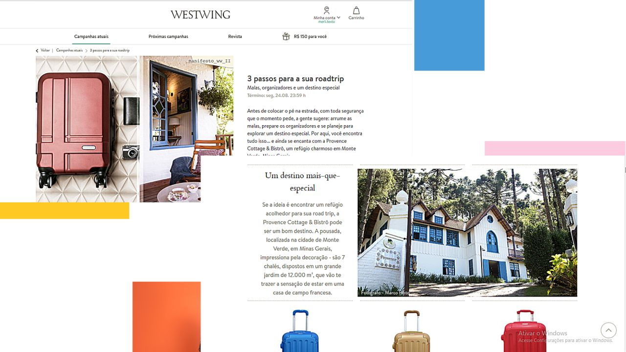 Assessoria de mídia turismo e hotéis: case Provence & Westwing
