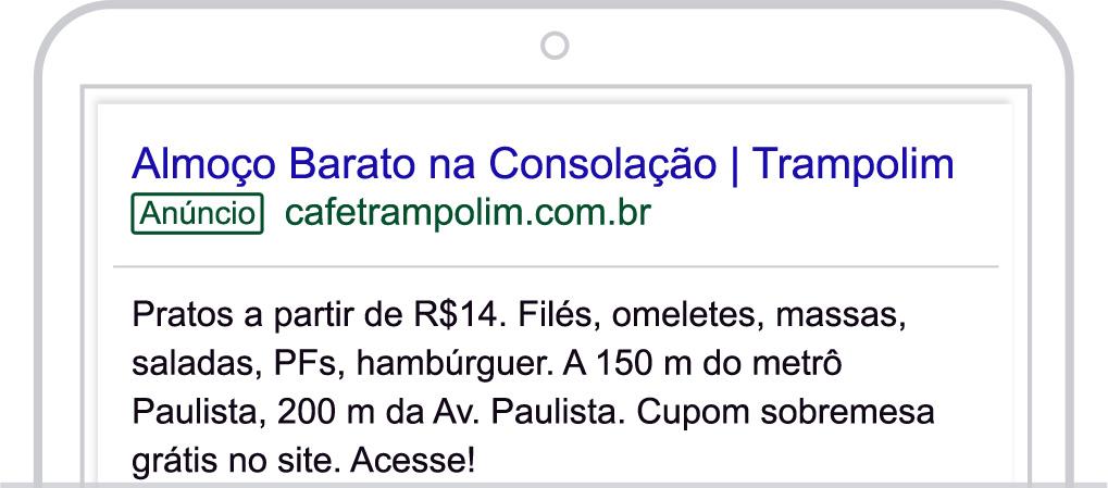 Google Ads - Anúncio 1 - Café Trampolim