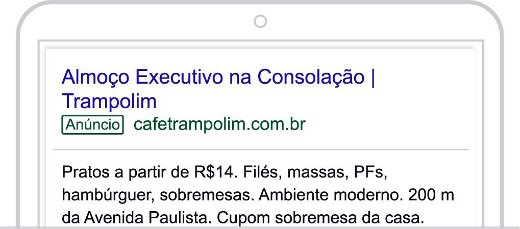 Google Ads - Anúncio 2 - Café Trampolim